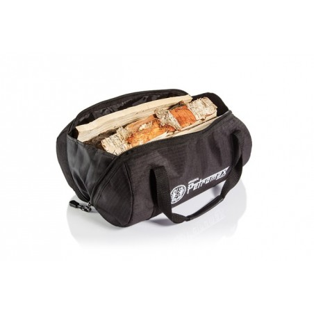 Petromax Fire Kettle Transport Bag doubles up as a handy fire wood collection bag