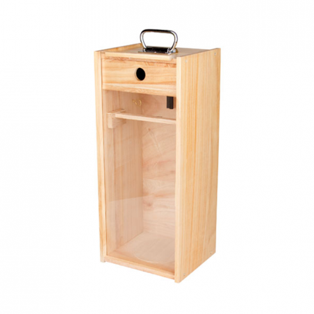 Wooden display/storage box for Petromax HK500 Lantern