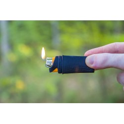 Exotac fireSLEEVE for Bic Lighter with gas lock for constant flame