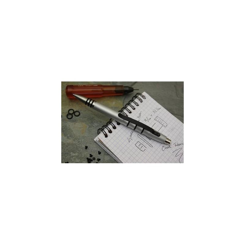 Tuff Writer Precision Press Pencil finished in 6061-T6 raw aluminum