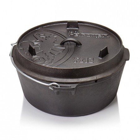 Petromax Flat Bottomed Dutch Ovens with no legs FT-T12