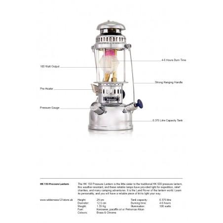Petromax HK 150 Pressure Lantern fact sheet