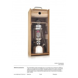 Wooden display/storage box for Petromax HK500 Lantern fact sheet