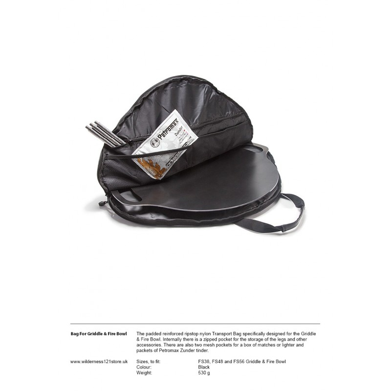Petromax TA-FS Transport Bag fact sheet
