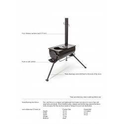 Loki Wood Burning Tent Stove fact sheet