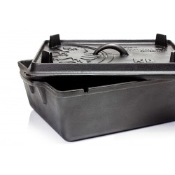 Large cast iron Loaf Pan with lid