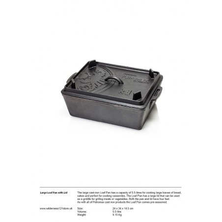 Large Loaf Pan with lid fact sheet