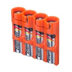 Powerpax Storacell Slimline 4 AAA Battery Caddy - Orange