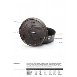 Petromax Flat Bottomed Dutch Ovens fact sheet