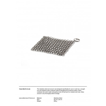 Petromax Chain Mail Pot Scrub XL fact sheet