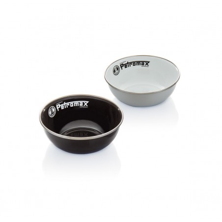 Enamel Bowls | Set of 2 pieces | Black or White