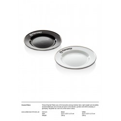 Petromax Enamel Plates | 2 pieces in Set