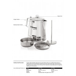 Stainless Steel Percolator factsheet