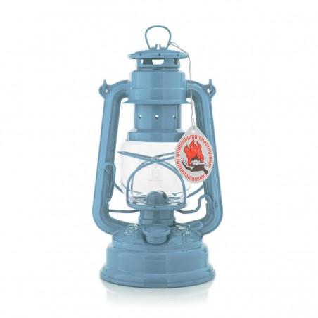 Feuerhandl 276 Hurricane Paraffin Lanterns Pastel Blue