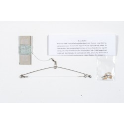 Military Speed Hook Survival Fishing Kit, Spring loaded trap with 30 feet of line and hook. Dehydrated Bait.