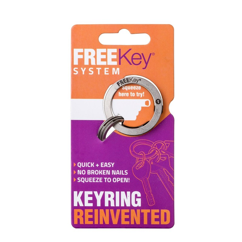 Freekey System Keyring on card