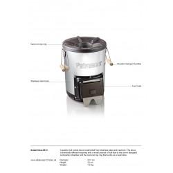 Petromax Rocket Stove RF33 Fact Sheet