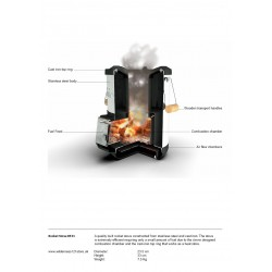Petromax Rocket Stove RF33 Cut Away Fact Sheet