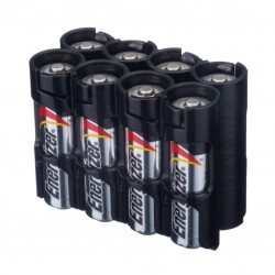 Powerpax Storacell 8AA Battery Caddy in Black
