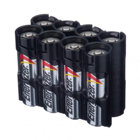 Powerpax Storacell 8AA Battery Caddy in Black