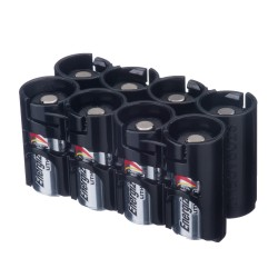 Powerpax Storacell Slimline 8 CR123 Battery Caddy Black