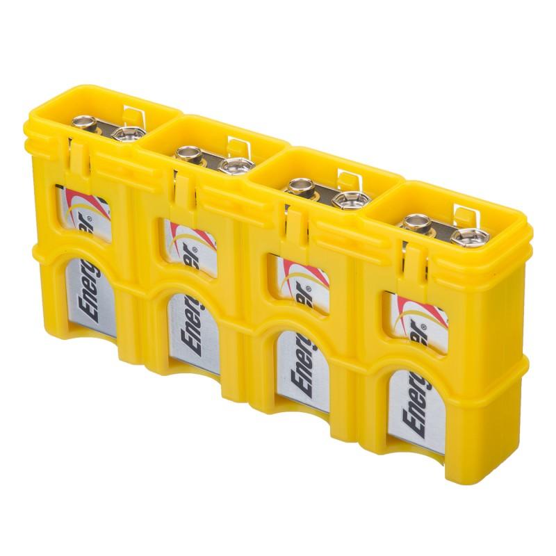 Powerpax Storacell Slimline 9 Volt Battery Caddy Yellow