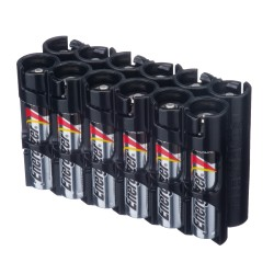 Powerpax Storacell 12 AAA Battery Caddy Black