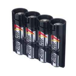 Powerpax Storacell AA Battery Storage Caddy Black