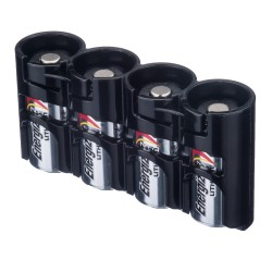 Powerpax Storacell Slimline 4 CR123 Battery Caddy Black