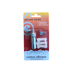 outdoor element packrat aluminium vial packaged