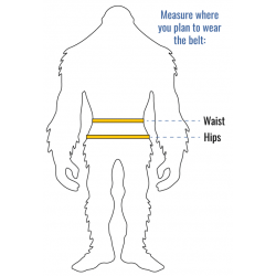 Wazoo Cache Belt - Size Guide for measuring