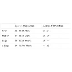 Wazoo Cache Belt - size guide