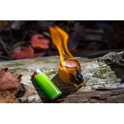 Procamptek - Fire Strip Roll | lit with a bic lighter