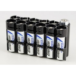 Powerpax Storacell 12AA Battery Caddy Black