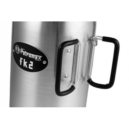 Petromax Fire Kettle detail shot of folding handle